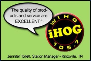 "WIHG Testimonial stating ""The quality of products and service are excellent"" - Jennifer Tollet, Knoxville, TN"